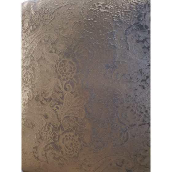 Kussen chocoladebruin barok 45x45