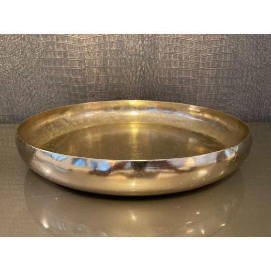 Mat gouden metaal schaal | dienblad | Fruitmand 45cm