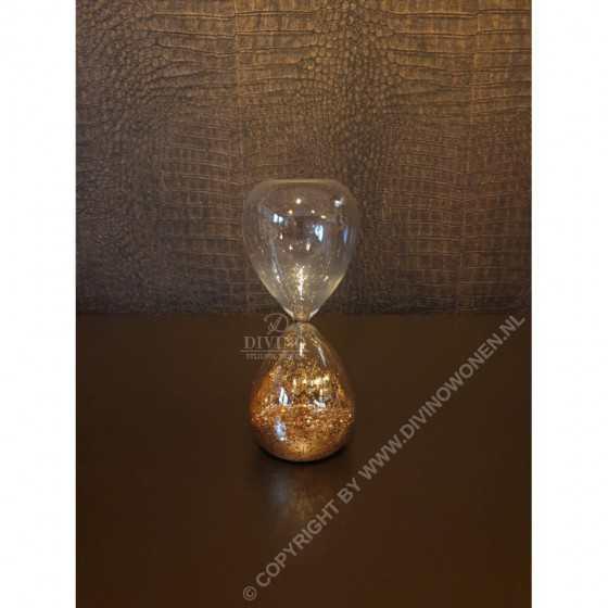 Zandloper goud glas 25cm