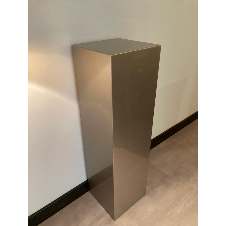 Zuil Hoogglans taupe metallic 100x34x34