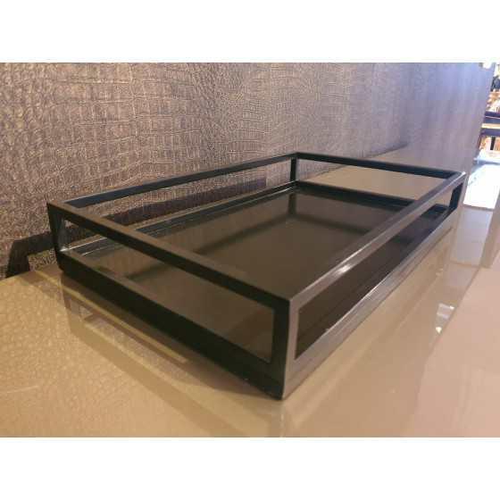 Dienblad mat zwart 40x25cm
