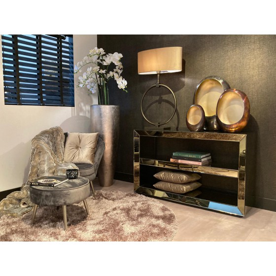Sidetable | Dressoir Spiegel Sepia 2 laags 130x40cm
