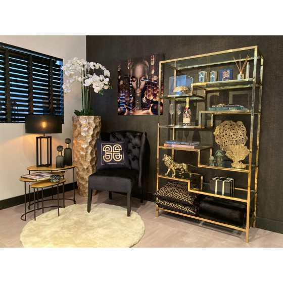 Sierra wandkast goud inclusief glasplaten 180x100x40