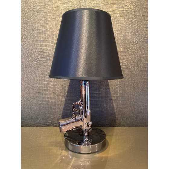Tafellamp gunlamp zwart inclusief kap