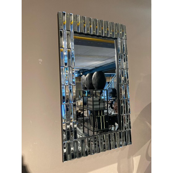 Spiegel piano zilver rechthoekig 70x120