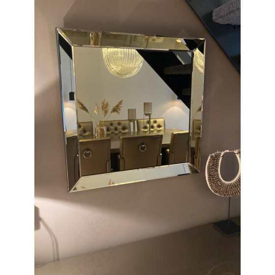 Sepia spiegel 70x70 met spiegelzijkant