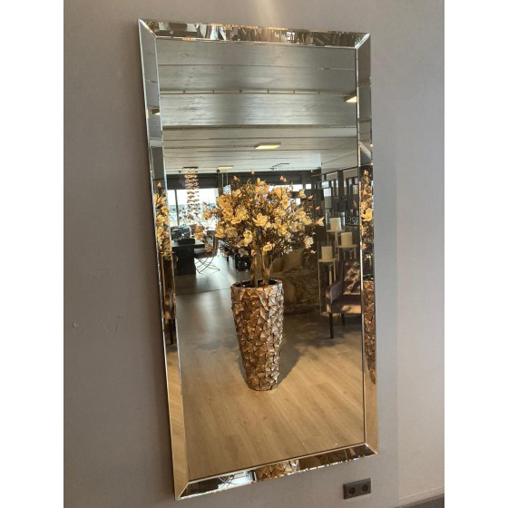 Spiegel met Spiegellijst sepia 80x150 | Metropolitan Luxury Stijl | Spiegel Zijkant