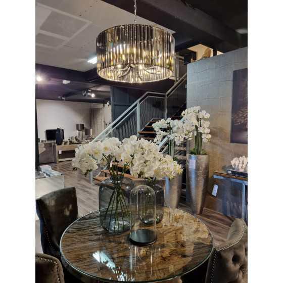 Hanglamp piano glas antraciet 60 cm