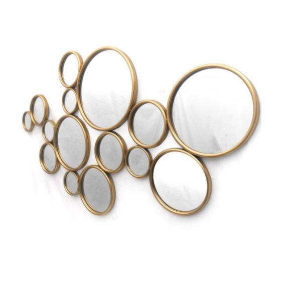 Cirkel spiegel goud 135x100x2