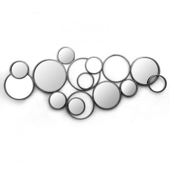Cirkel spiegel zwart 135x100x2