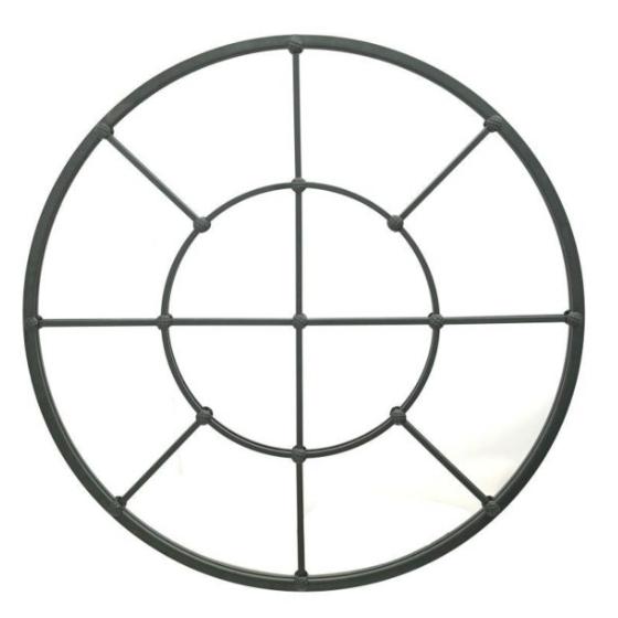 Ronde spiegel zwart 91x91x4