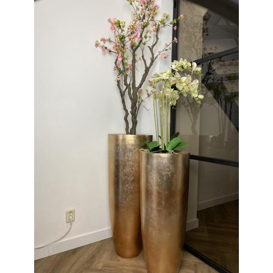 Brons glimmende vaas 105cm