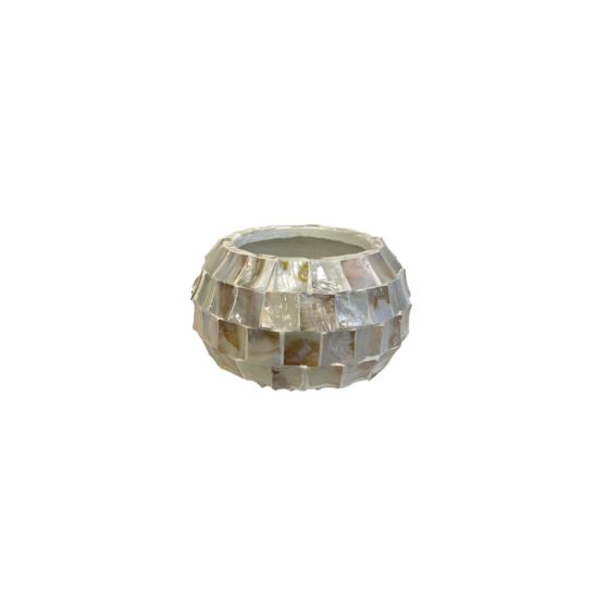 Schelpenvaas staand model creme 40cm bowl