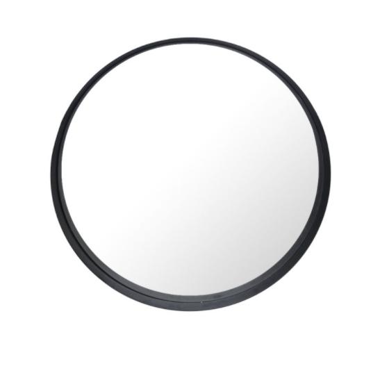 Ronde spiegel zwart 100x100x10cm