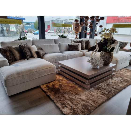 U-bank Teddy| Loungebank | St. Tropez Copenhagen stof| Pocketvering | 180x400x250cm