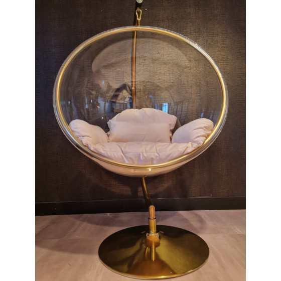 Gouden hangstoel | Schommel stoel | Luxury zweefstoel