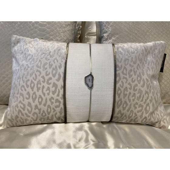 Brons Kussen Luxus stone leopard 50x30