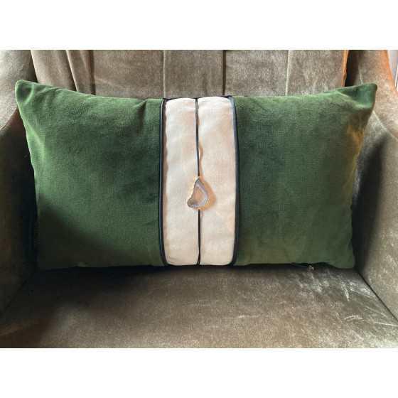 Brons Kussen Luxus stone green 50x30