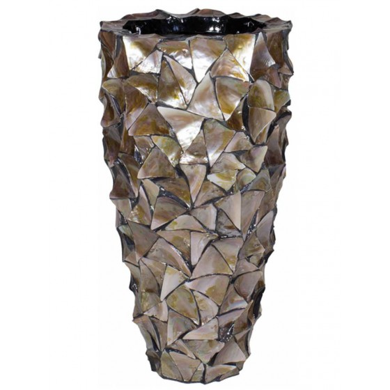 "Schelpenvaas ""Mother of Pearl Brown"" 77cm Hoog"