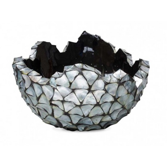 "Schelpenvaas Bowl ""Mother of Pearl Silver"" 70cm"