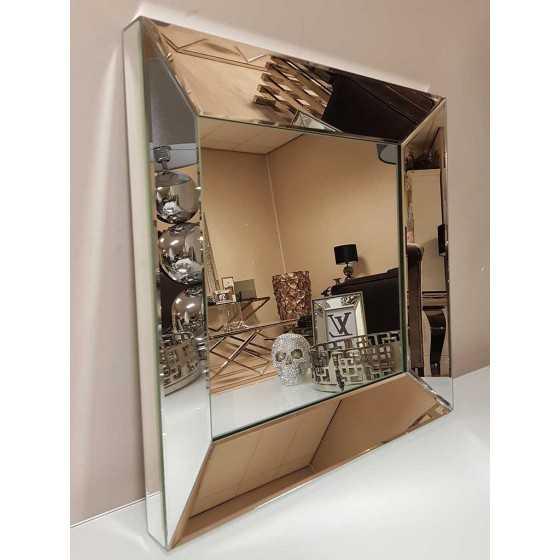 Spiegel met Spiegellijst Zilver 40x40cm | Metropolitan Luxury Stijl | Spiegel Zijkant