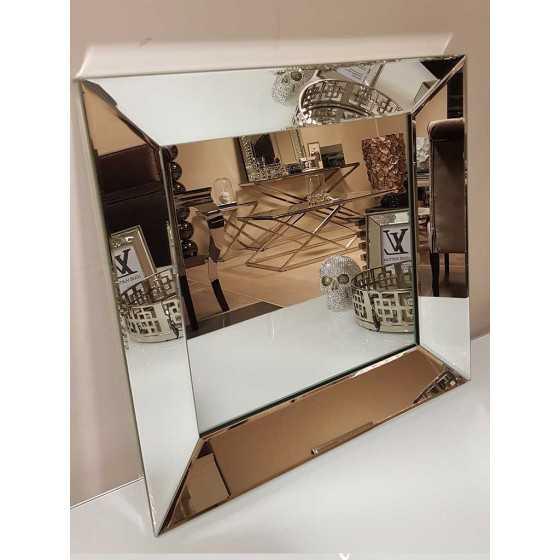 Spiegel met Spiegellijst Zilver 50x50cm | Eric Kuster Stijl | Spiegel Zijkant