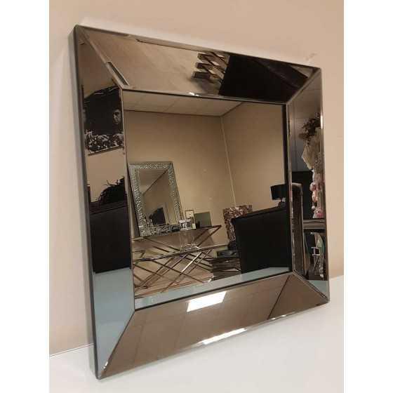 Spiegel met Spiegellijst Antraciet 50x50cm | Metropolitan Luxury Stijl | Spiegel Zijkant