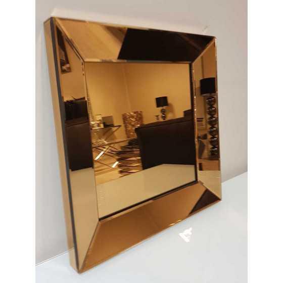 Spiegel met Spiegellijst Brons 40x40cm | Metropolitan Luxury Stijl | Spiegel Zijkant