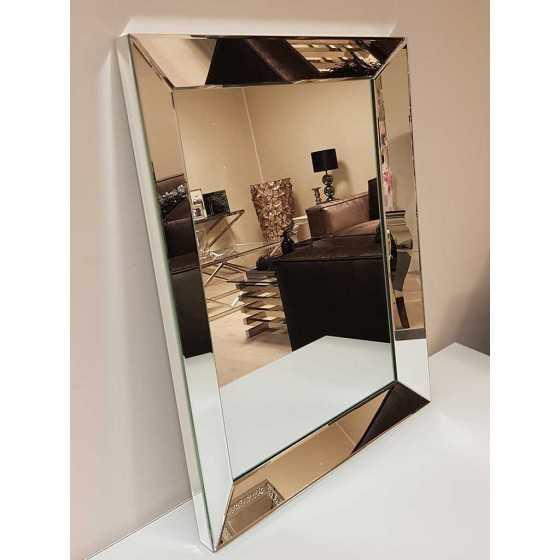Spiegel met Spiegellijst Zilver 90x70cm | Metropolitan Luxury Stijl | Spiegel Zijkant
