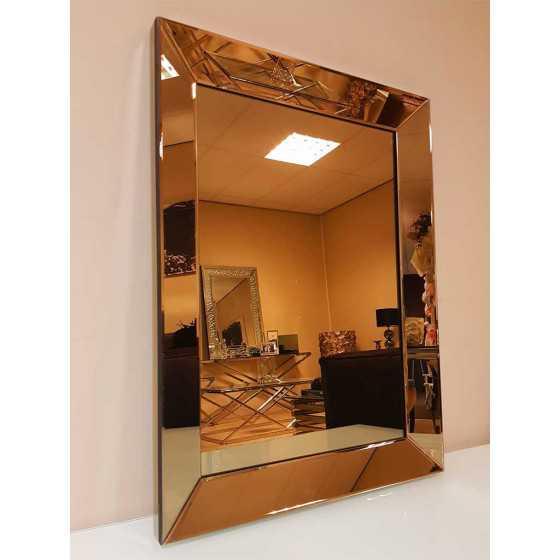 Spiegel met Spiegellijst Brons 90x70cm | Eric Kuster Stijl | Spiegel Zijkant
