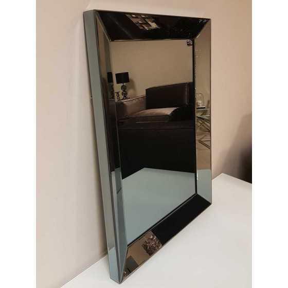 Spiegel met Spiegellijst Antraciet 80x60cm | Metropolitan Luxury Stijl | Spiegel Zijkant