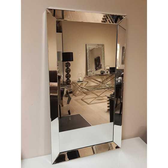 Spiegel met Spiegellijst Zilver 70x130cm | Metropolitan Luxury Stijl | Spiegel Zijkant
