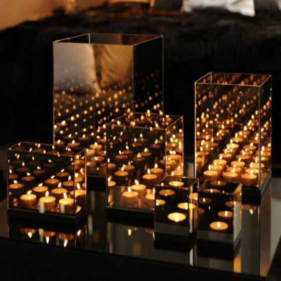 Infinity Waxinehouder 3-Licht 7x18x12cm