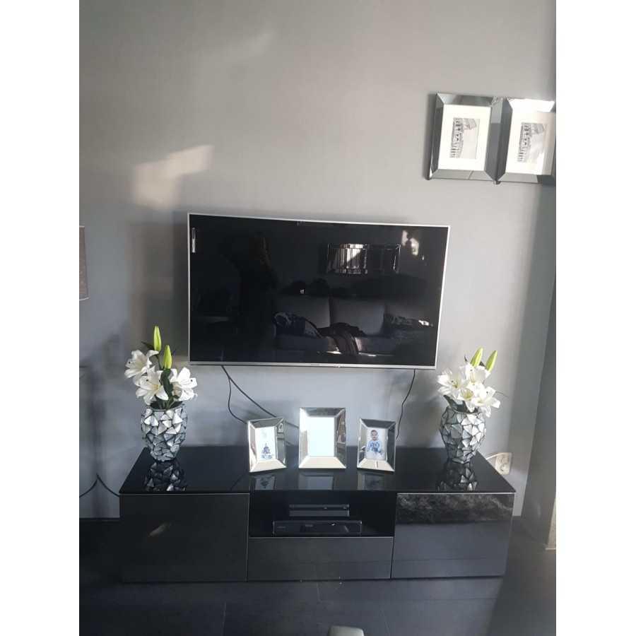 Sidetable Met Bijpassende Spiegel.Tv Meubel Spiegel Brons Of Zilver 160cm Kopen Luxury Living Store