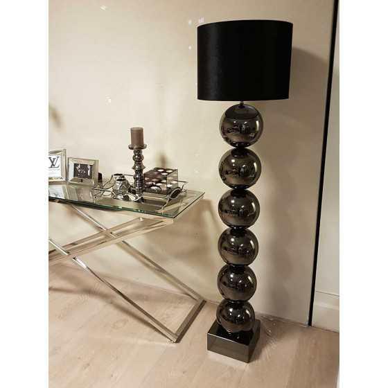 Bollenlamp Vloerlamp Antraciet inclusief kap 155cm