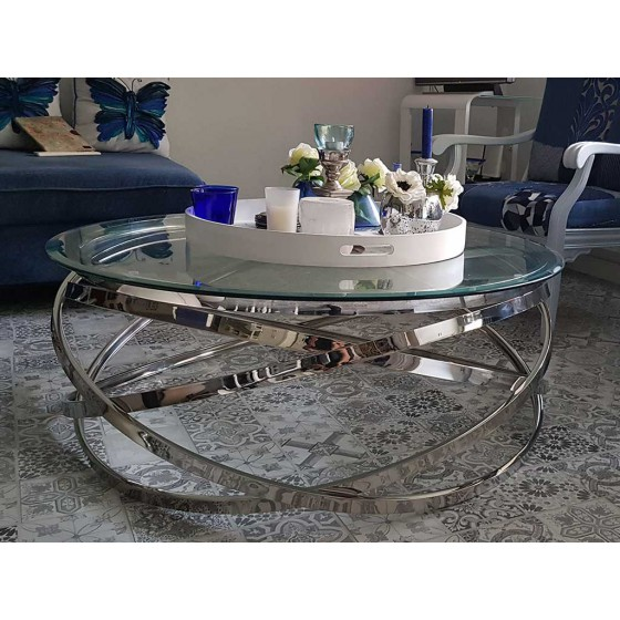 Zwarte Salon Tafel Met Glasplaat.Salontafel Rond Model Julia Rose Goud Zilver Chroom Glasplaat Transparant Wit En Zwart