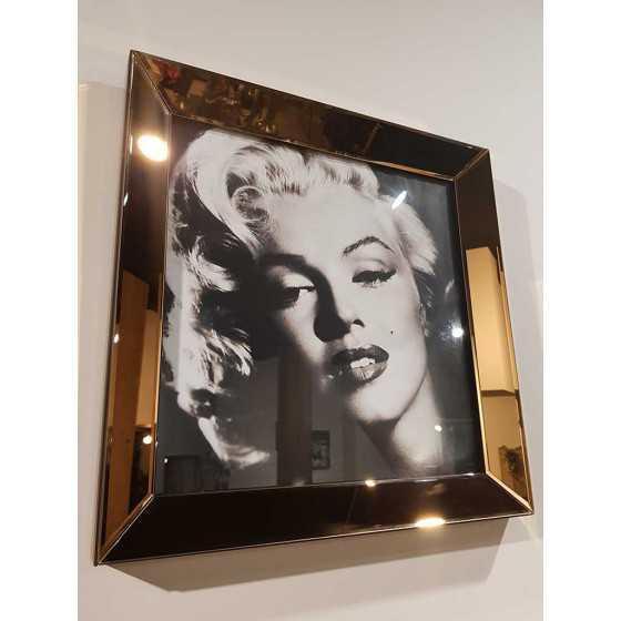 Fotolijst met Spiegellijst en Spiegel Zijkant Brons 50x50cm | Marilyn Monroe | Eric Kuster Stijl