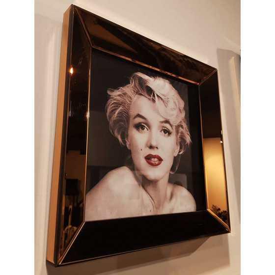 Fotolijst met Spiegellijst en Spiegel Zijkant Brons 40x40cm | Marilyn Monroe | Eric Kuster Stijl
