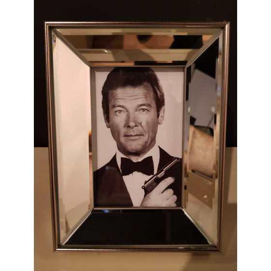 Fotolijst met Spiegellijst Zilver 15x10cm | James Bond Roger Moore| Eric Kuster Stijl