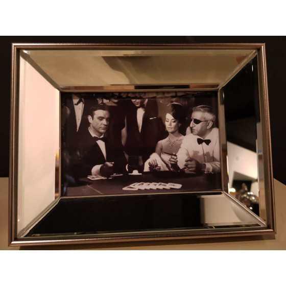 Fotolijst met Spiegellijst Zilver 15x10cm | James Bond Sean Connery | Eric Kuster Stijl