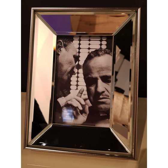Fotolijst met Spiegellijst Zilver 15x10cm | The Godfather | Metropolitan Luxury Stijl
