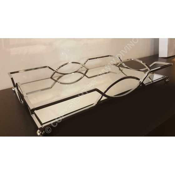 Spiegel Dienblad Chain Zilver 45x30