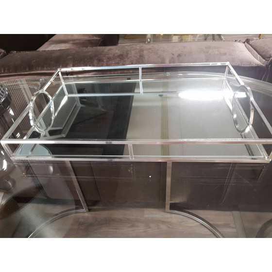Dienblad zilver rechthoekig 45x30