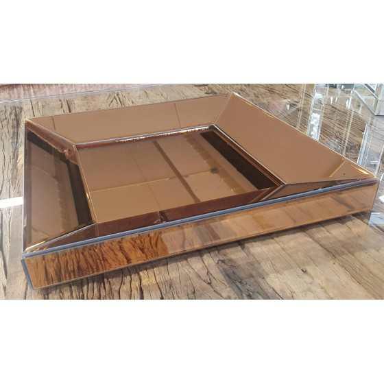 Dienblad Brons 40x40cm Spiegellijst Spiegel