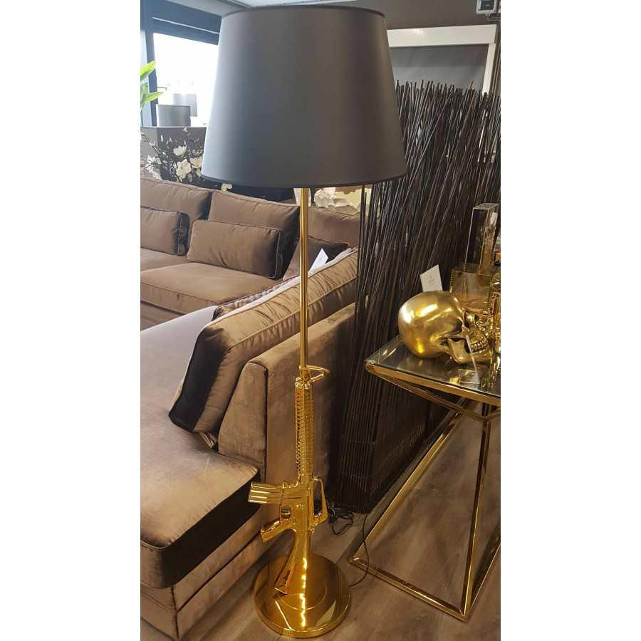 Gun lamp goud m-16 inclusief kap