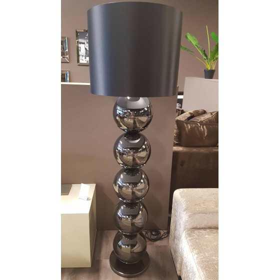 Bollenlamp antraciet met ronde voet inclusief kap XL 165cm