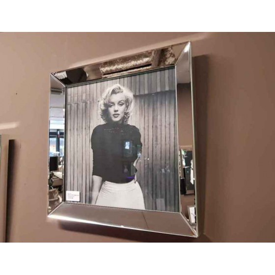 Fotolijst met Spiegelrand 50x50cm Zilver | Marilyn Monroe
