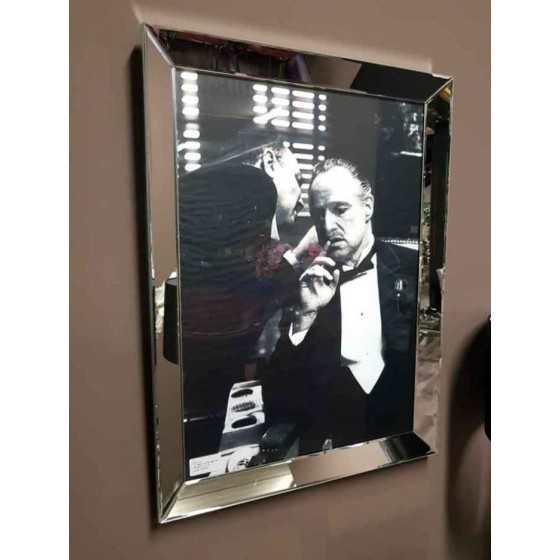 Fotolijst met Spiegelrand 80x60cm Zilver