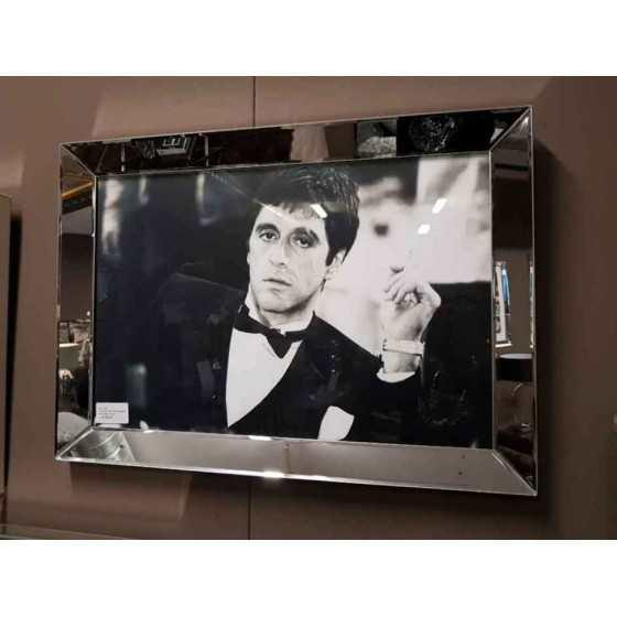 Fotolijst met Spiegelrand 70x50cm Zilver | Tony Montana