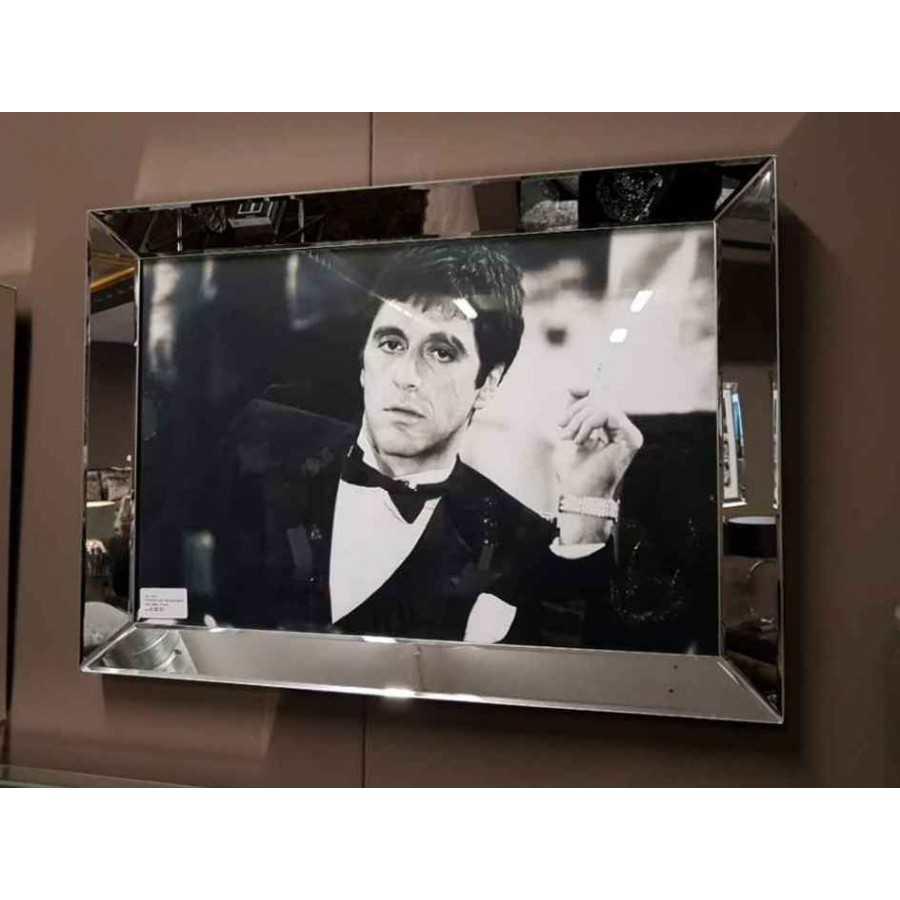 Fotolijst met Spiegelrand 70x50cm Zilver   Tony Montana